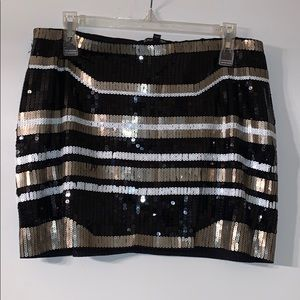 Express Sequined Mini Skirt, Size M